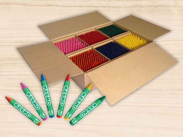 1000 Bulk Wrapped Kids Wax Crayons