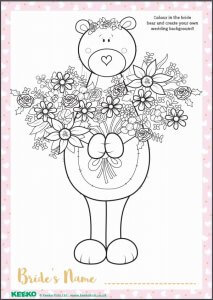 Kids Wedding Colouring Sheet - Free Download