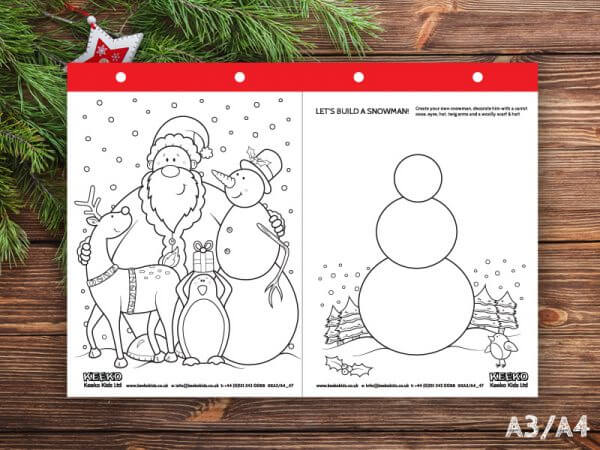 christmas colouring pads