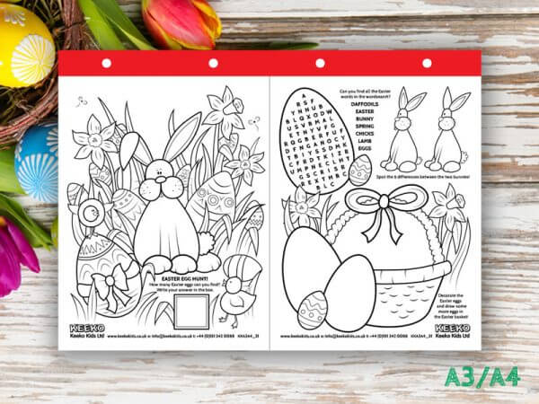 Easter A3/A4 Colouring Sheets