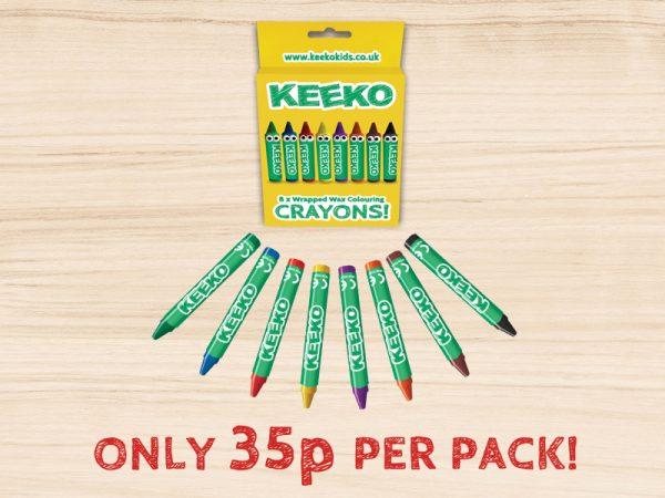 Keeko Wrapped Crayon 8 Pack