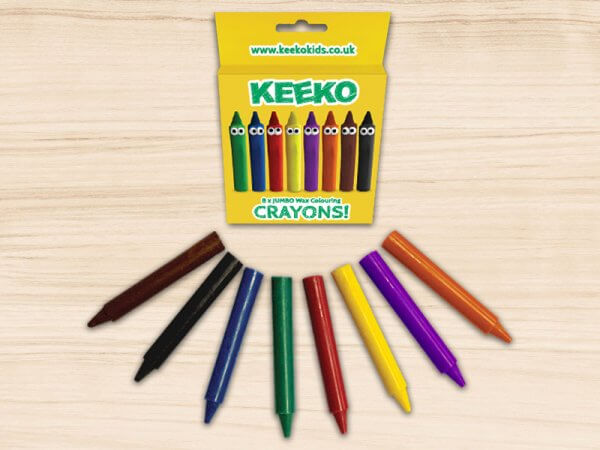 Keeko JUMBO Crayon 8 Pack