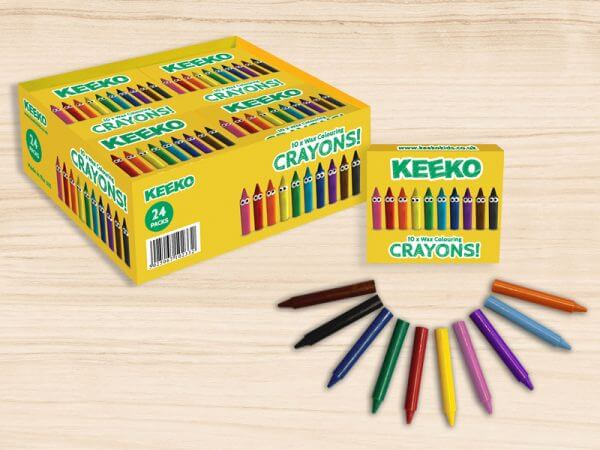 Kids Crayons in Packs of 10