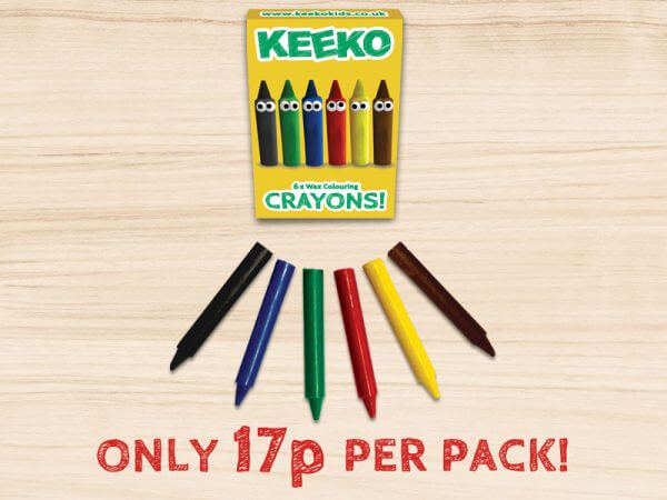 Keeko Kids Crayon 6 pack
