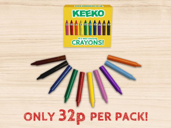 Keeko Kids Crayon 10 pack