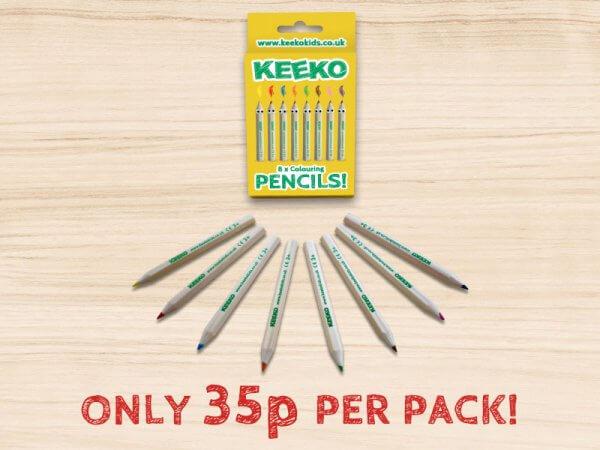 Kids Pack of 8 Pencils