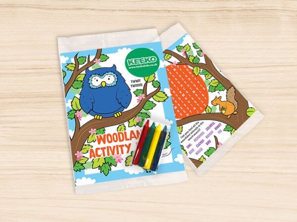 Kids Woodland Activity Pack with Crayons