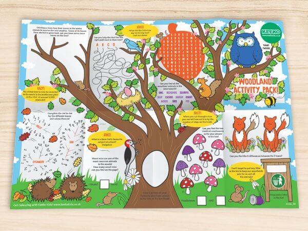 Kids Woodland Activity A3 sheet