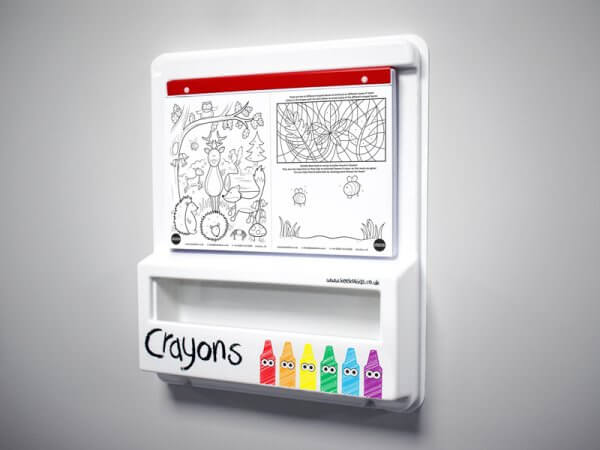Large Kids Colouring Wall Mounted Board
