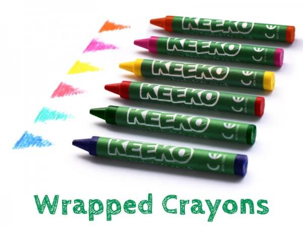 Wrapped Crayons pick your own colours