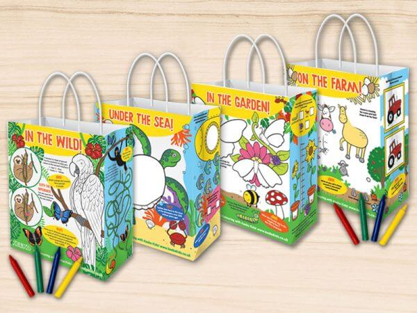 Children's Activity Colouring Bags