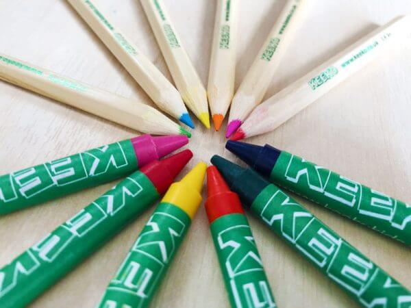 Keeko Wax Crayons and Colouring Pencils