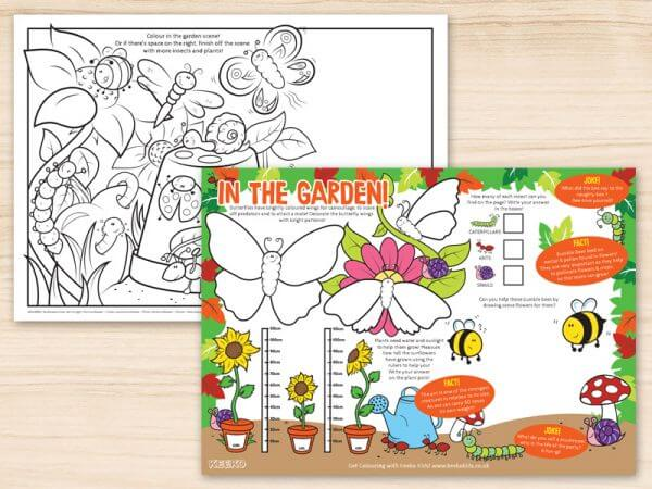 In the Garden Restaurant Activity Sheets