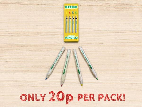 keeko kids colouring pencil 4 pack