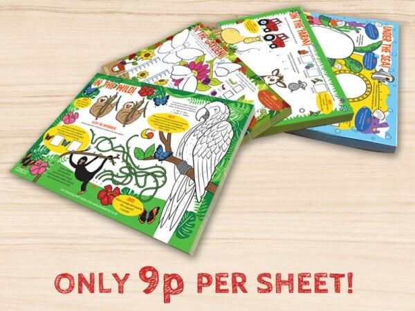 kids activity pads