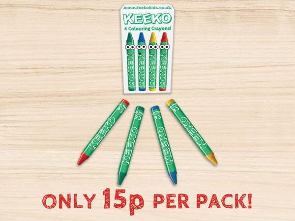 kids wrapped crayons 4 pack