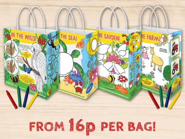 kids activity meal bags
