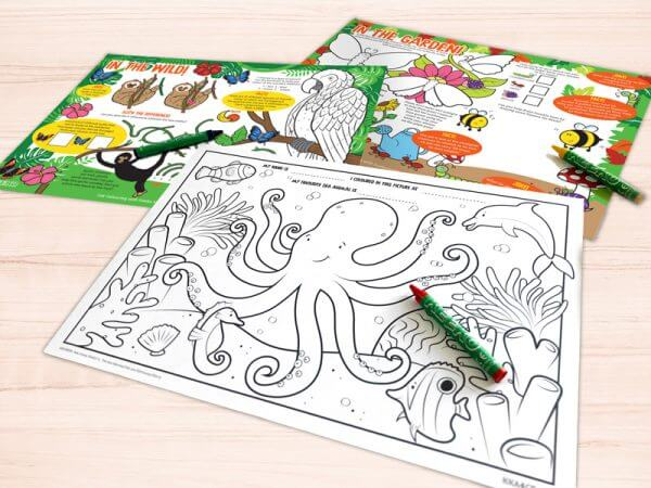 Kids Activity Sheets and Placemats