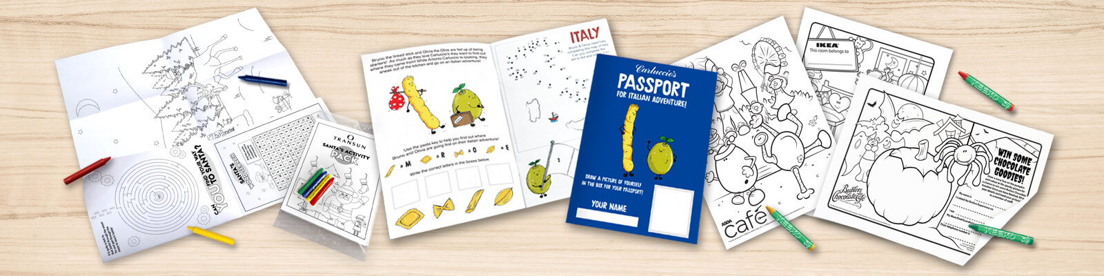 kids bespoke activity packs