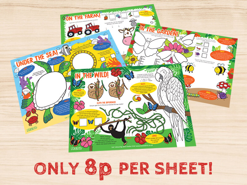 A4 Kids Activity Sheets