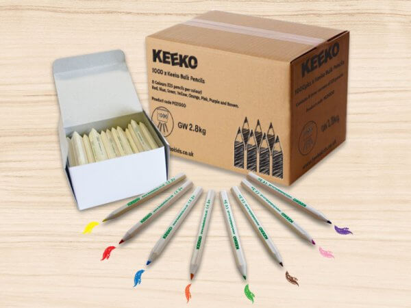 kids bulk box of colouring pencils
