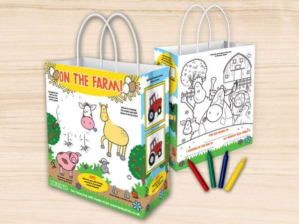 On the Farm Children's Activity Bag