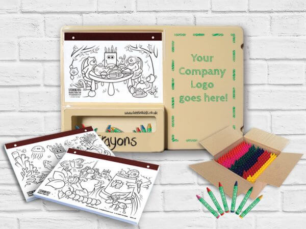 Small Plastic Kids Colouring Board Bundle