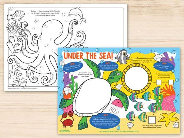Under the Sea Restaurant Activity Sheets